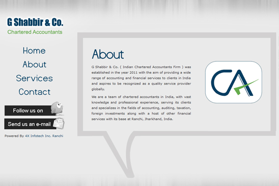 G Shabbir & Co. Chartered Accountants Website Ranchi By Innofreak ...